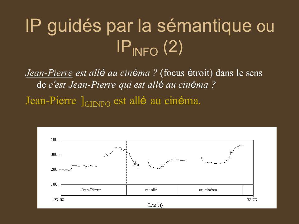 IP guidés par la sémantique ou IPINFO (2)