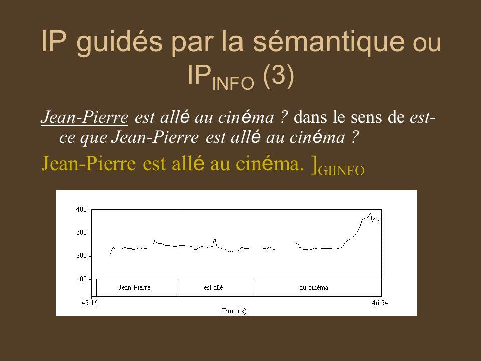 IP guidés par la sémantique ou IPINFO (3)