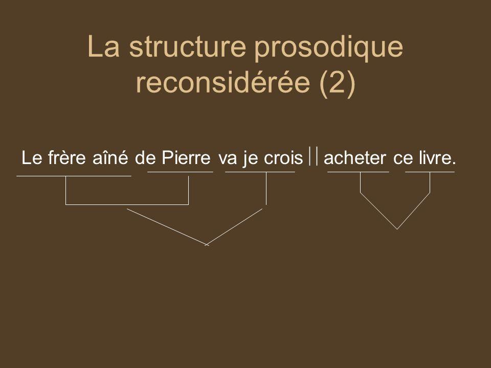 La structure prosodique reconsidérée (2)