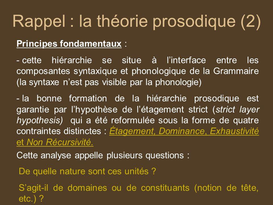 Rappel : la théorie prosodique (2)