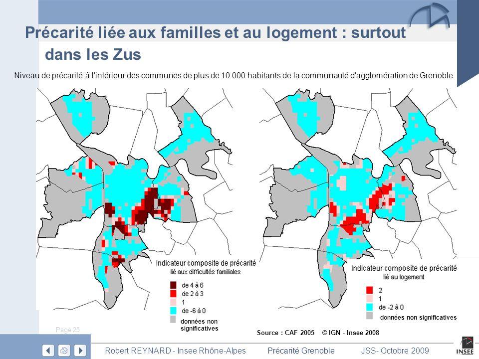 Précarité liée aux familles et au logement : surtout dans les Zus