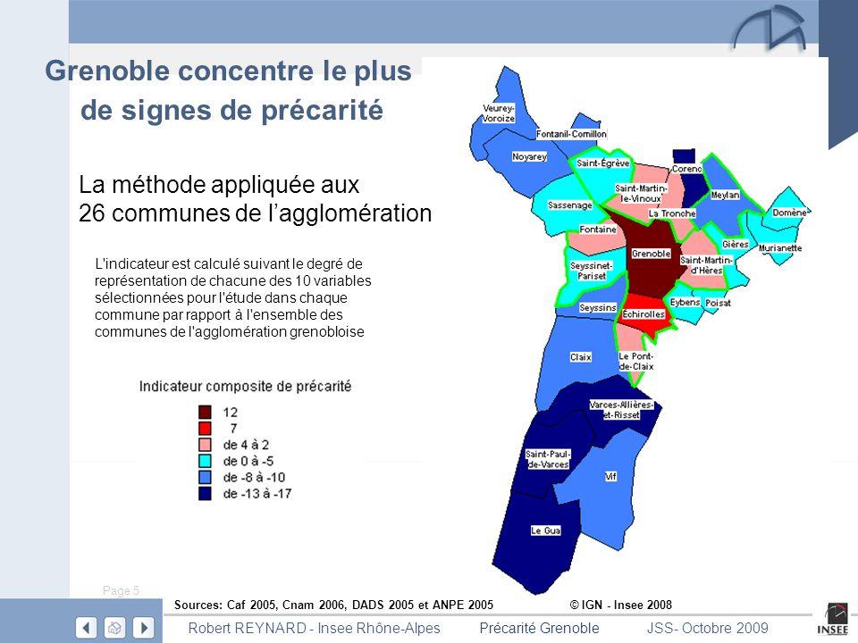 Grenoble concentre le plus de signes de précarité