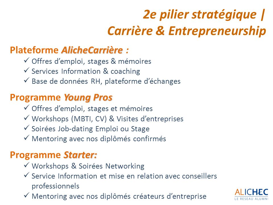 Carrière & Entrepreneurship