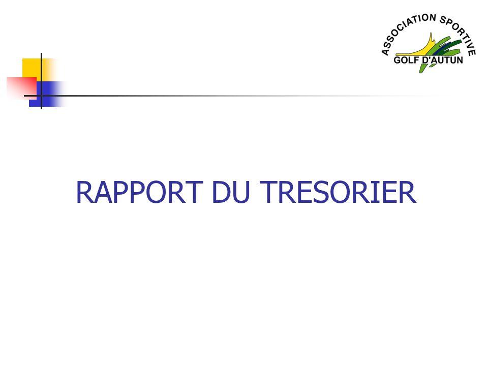 RAPPORT DU TRESORIER