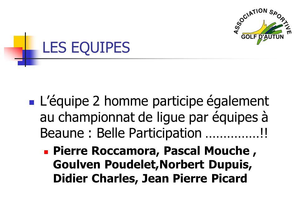 LES EQUIPES L'équipe 2 homme participe également au championnat de ligue par équipes à Beaune : Belle Participation ……………!!
