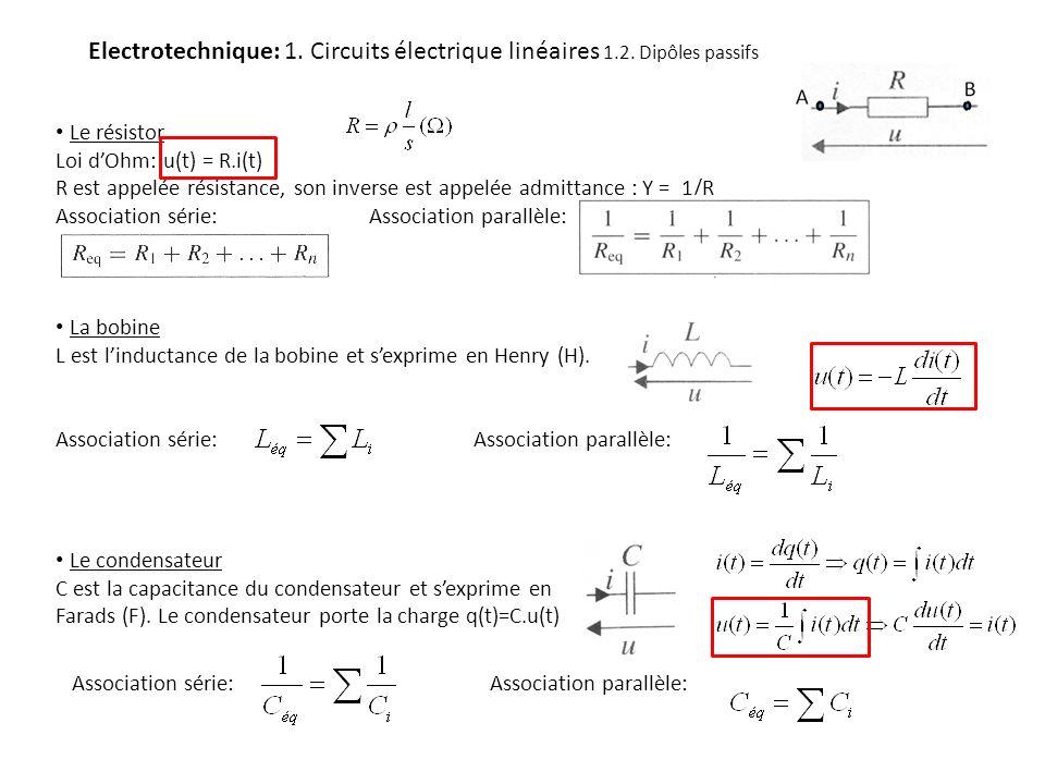 Electrotechnique: 1. Circuits électrique linéaires 1. 2