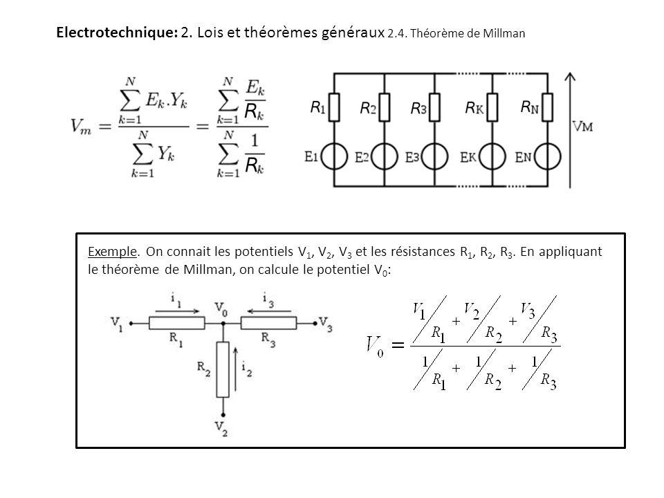 Electrotechnique: 2. Lois et théorèmes généraux 2. 4