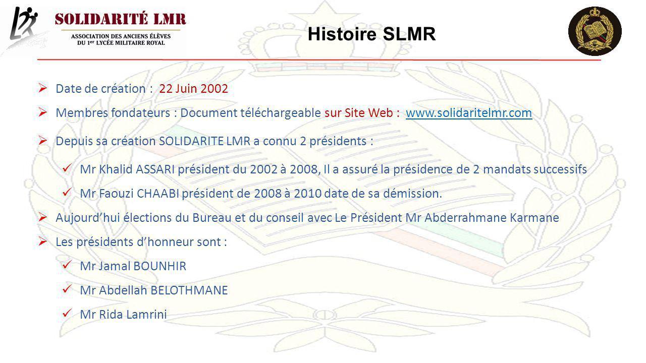 Histoire SLMR Date de création : 22 Juin 2002