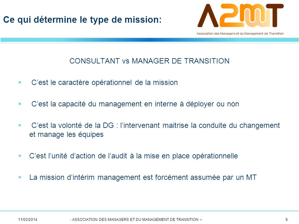 CONSULTANT vs MANAGER DE TRANSITION