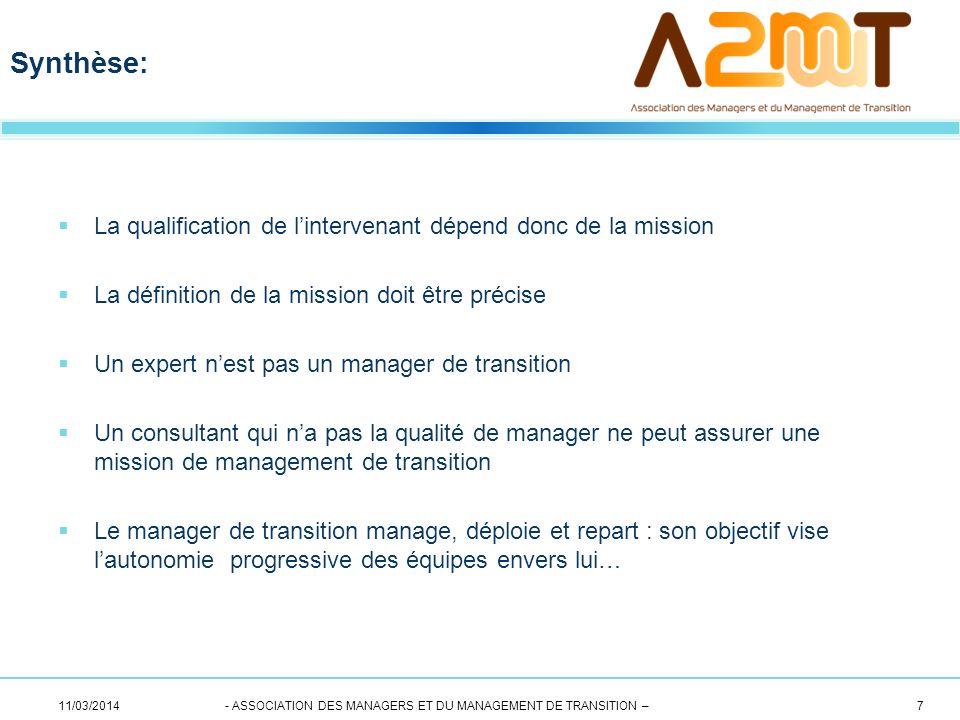 Synthèse: La qualification de l'intervenant dépend donc de la mission