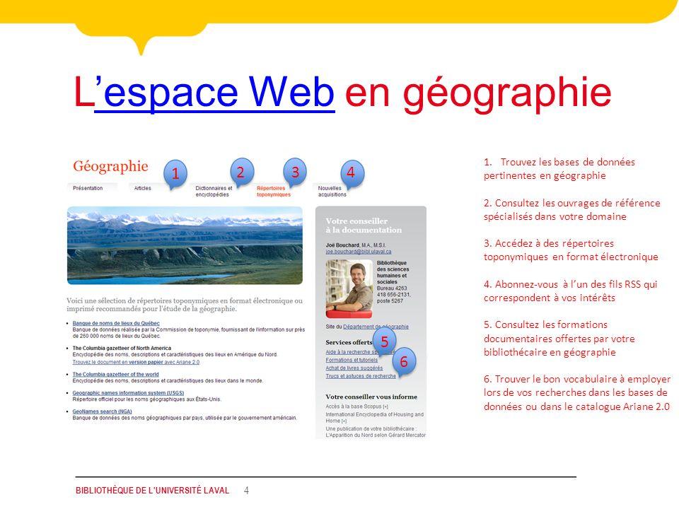 L'espace Web en géographie
