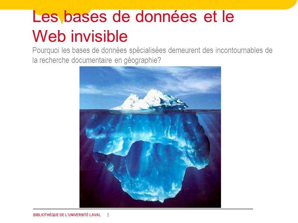 Les bases de données et le Web invisible