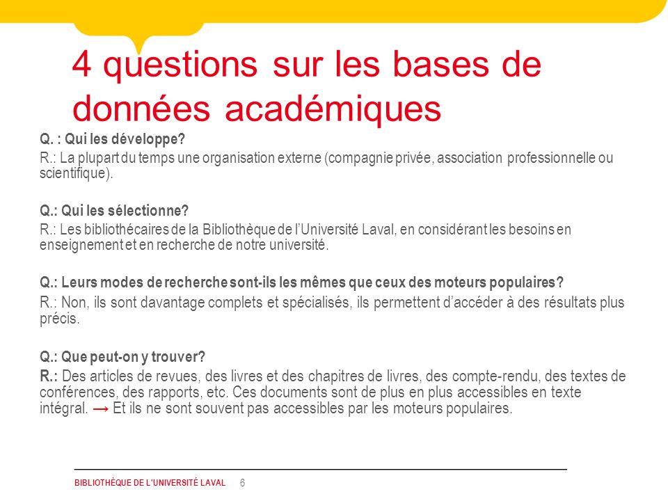 4 questions sur les bases de données académiques