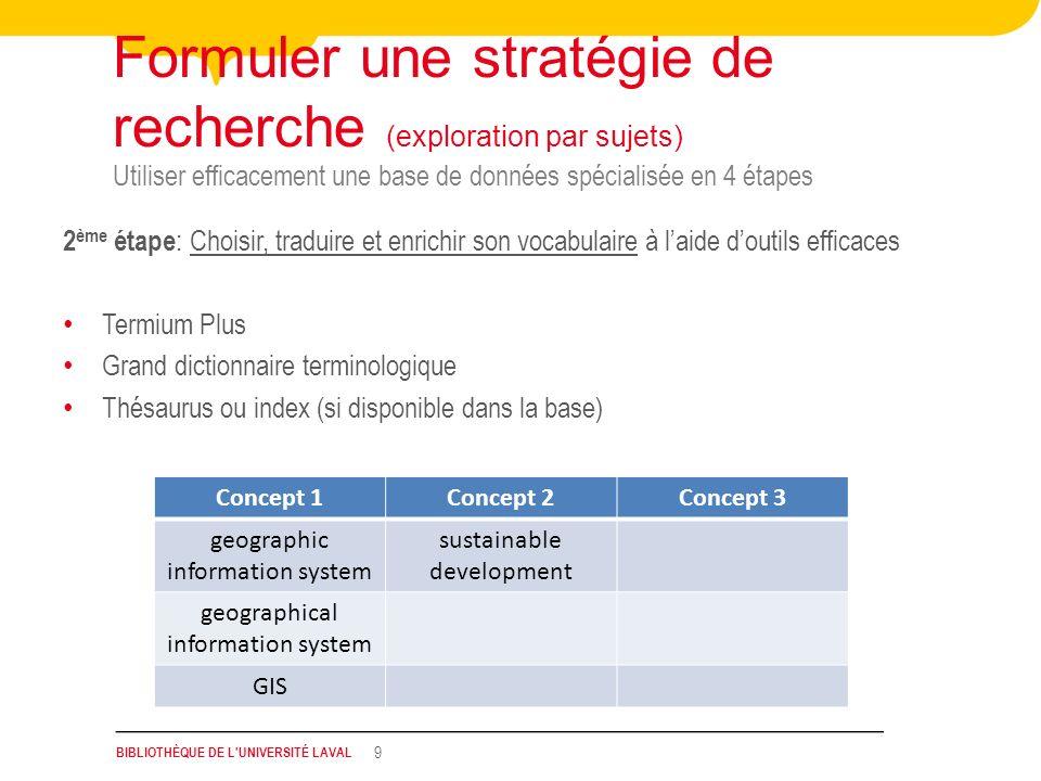 Formuler une stratégie de recherche (exploration par sujets)