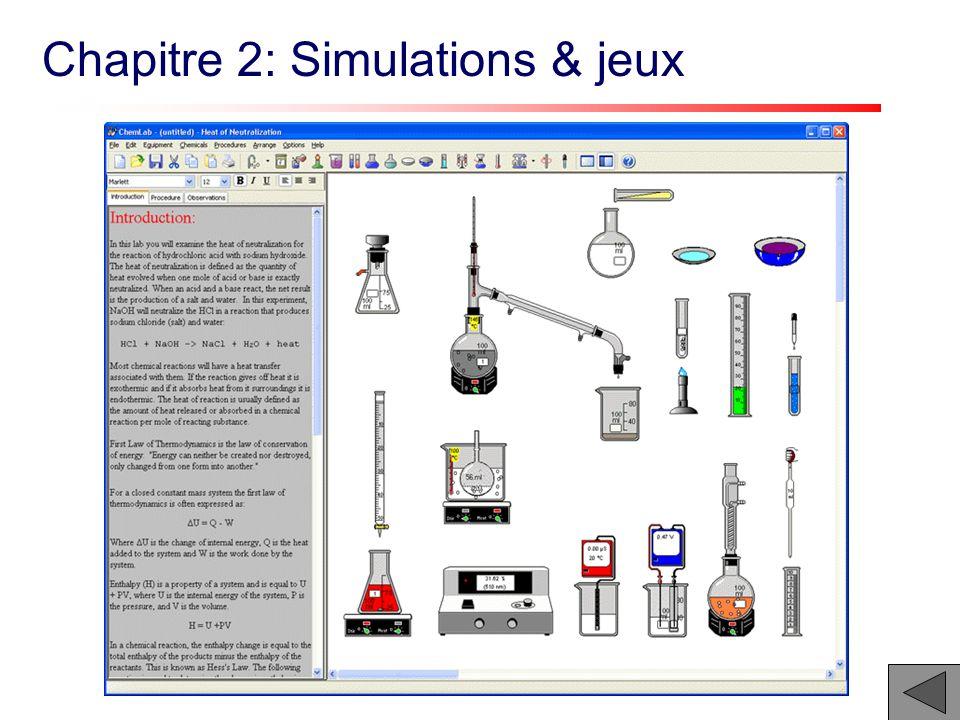 Chapitre 2: Simulations & jeux
