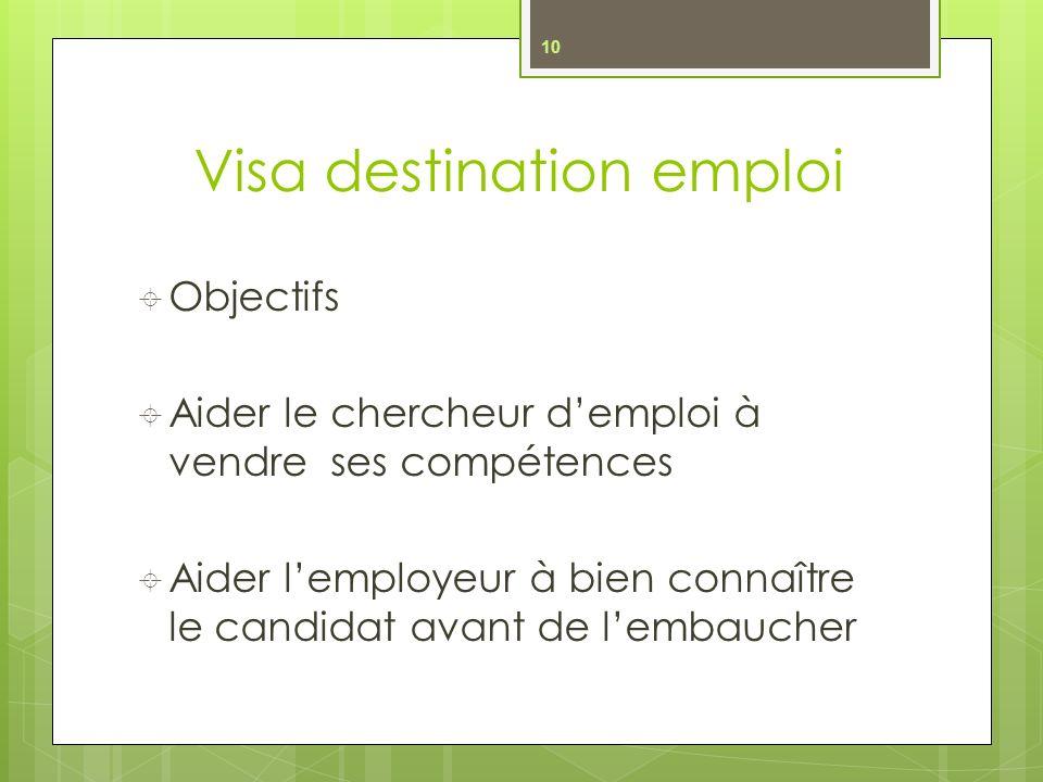 Visa destination emploi