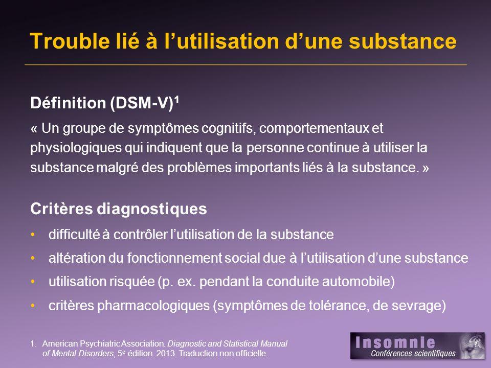 Trouble lié à l'utilisation d'une substance