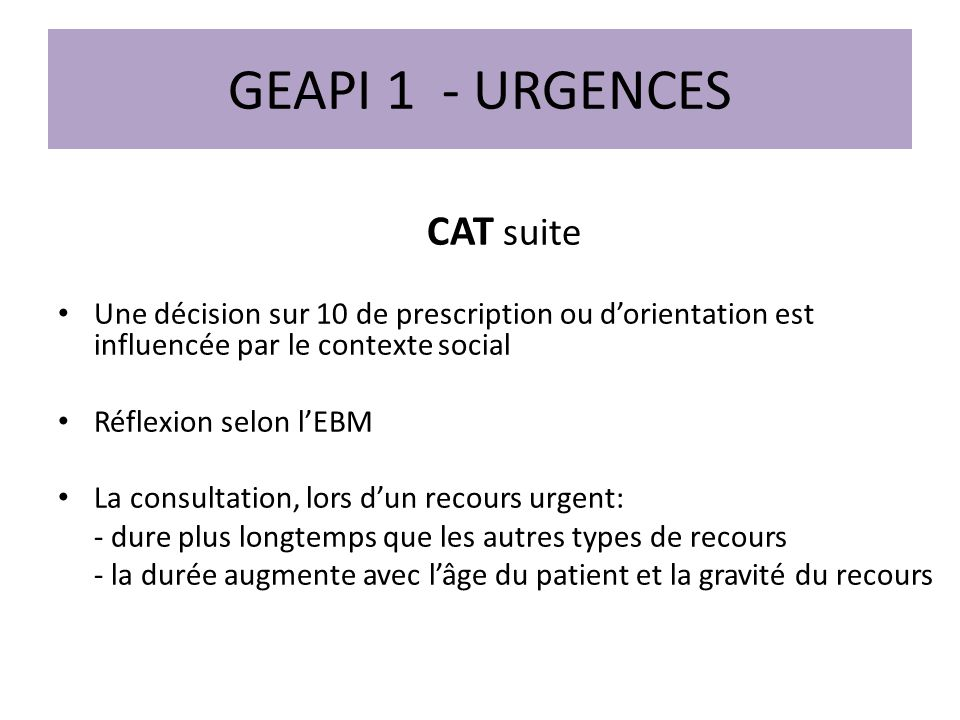 GEAPI 1 - URGENCES CAT suite