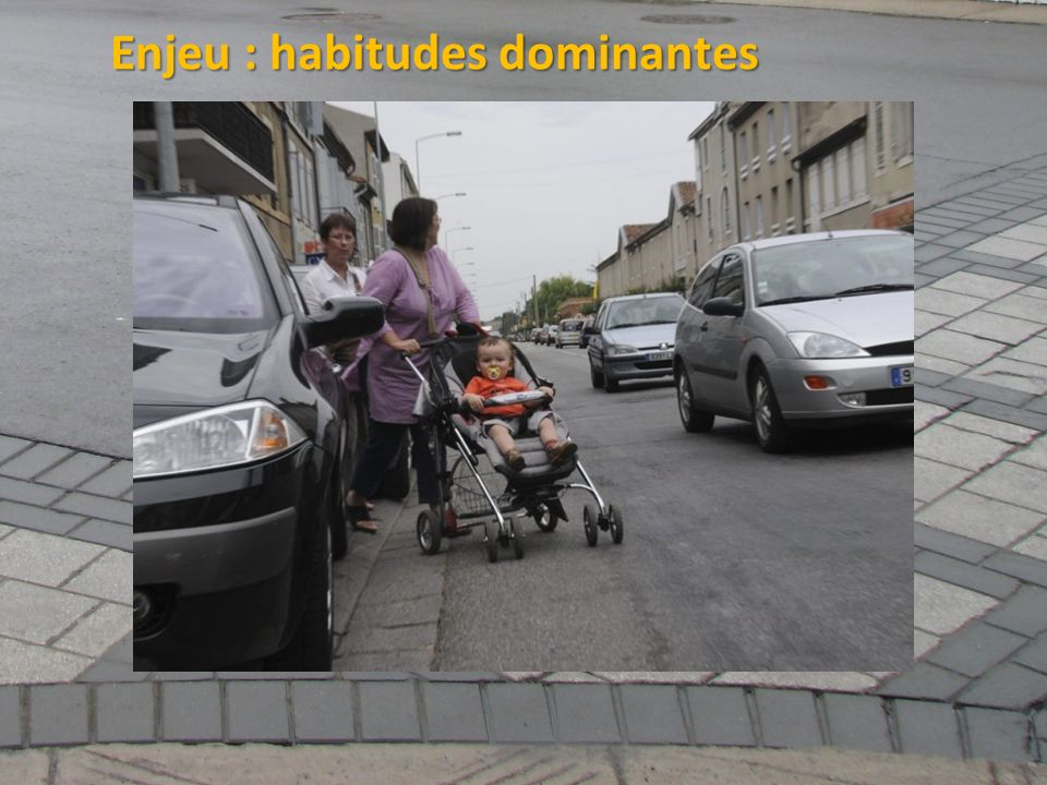 Enjeu : habitudes dominantes