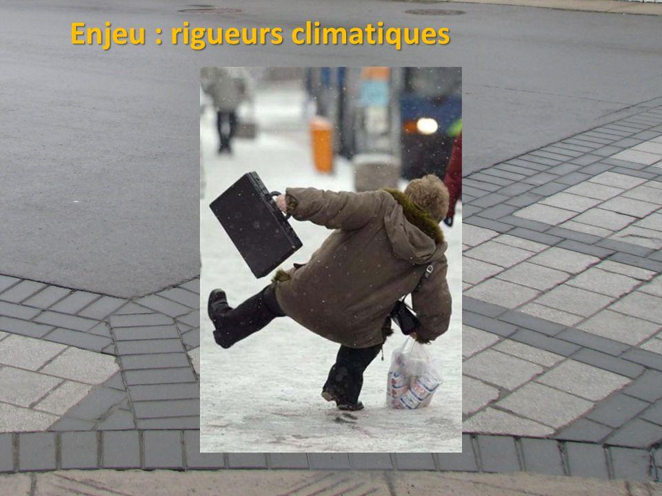 Enjeu : rigueurs climatiques