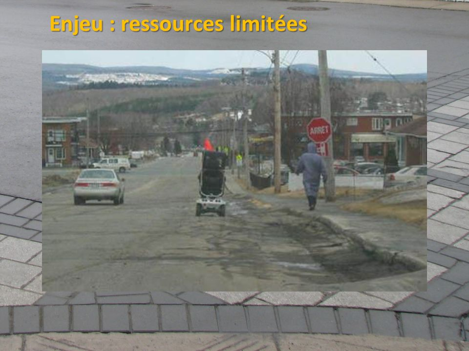 Enjeu : ressources limitées