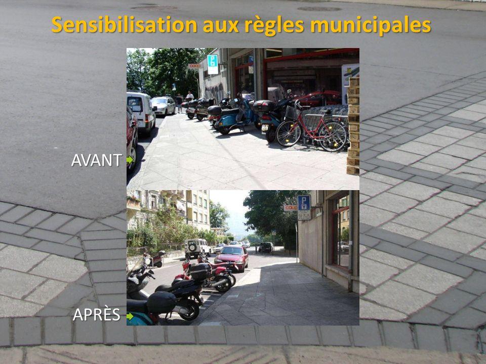 Sensibilisation aux règles municipales