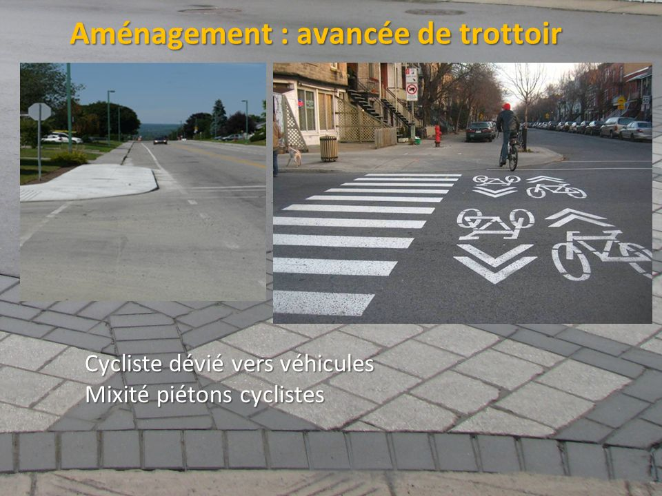 Aménagement : avancée de trottoir