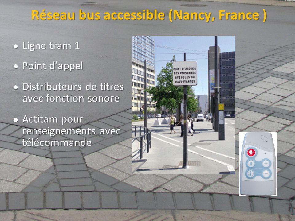 Réseau bus accessible (Nancy, France )
