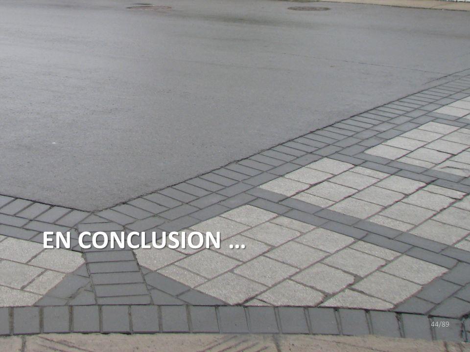 En CONCLusion …