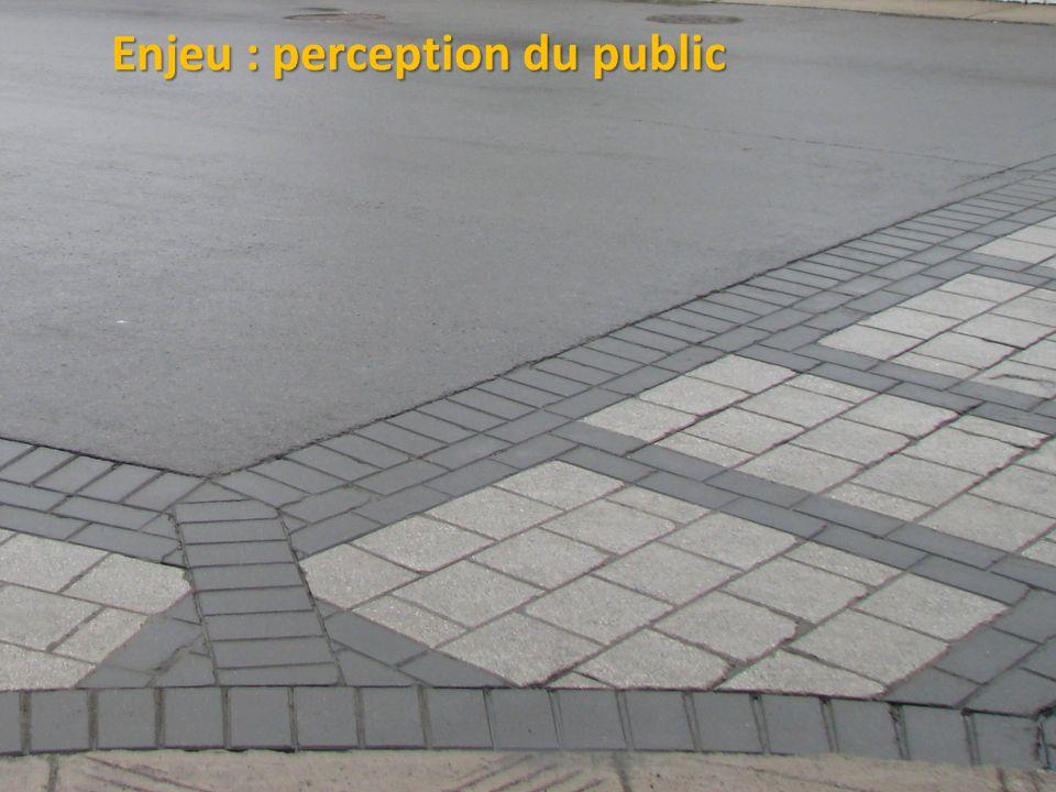 Enjeu : perception du public