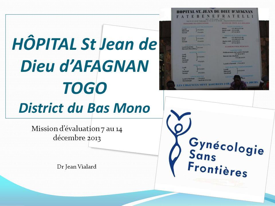 HÔPITAL St Jean de Dieu d'AFAGNAN TOGO District du Bas Mono