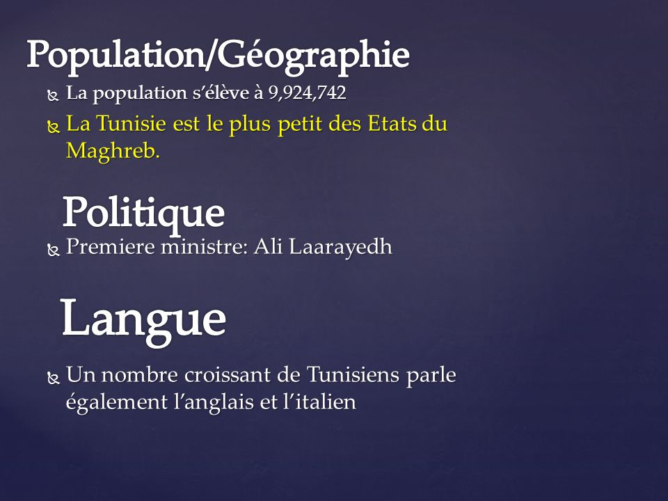 Population/Géographie