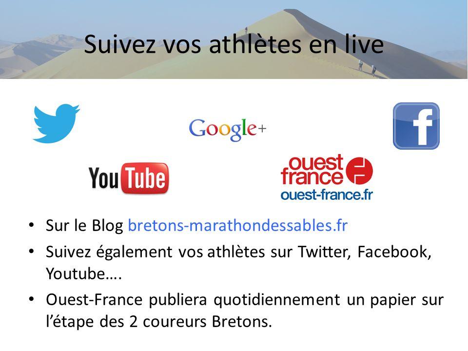 Suivez vos athlètes en live