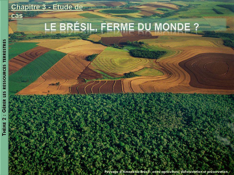 Le Brésil, ferme du monde Thème 2 : Gérer les ressources terrestres