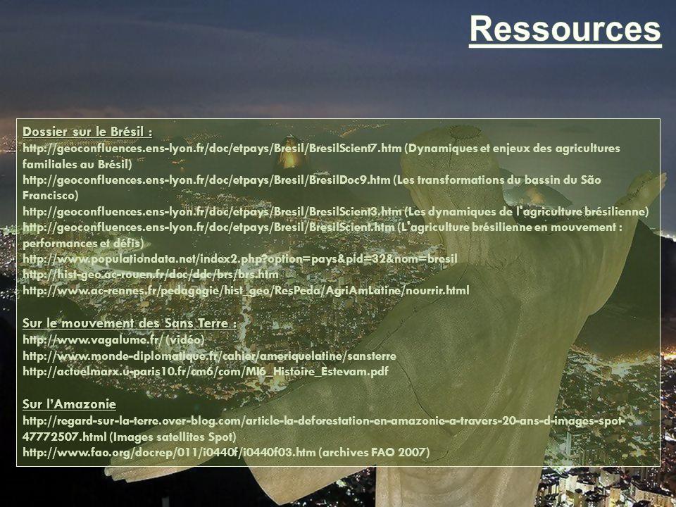 Ressources Dossier sur le Brésil : Sur le mouvement des Sans Terre :