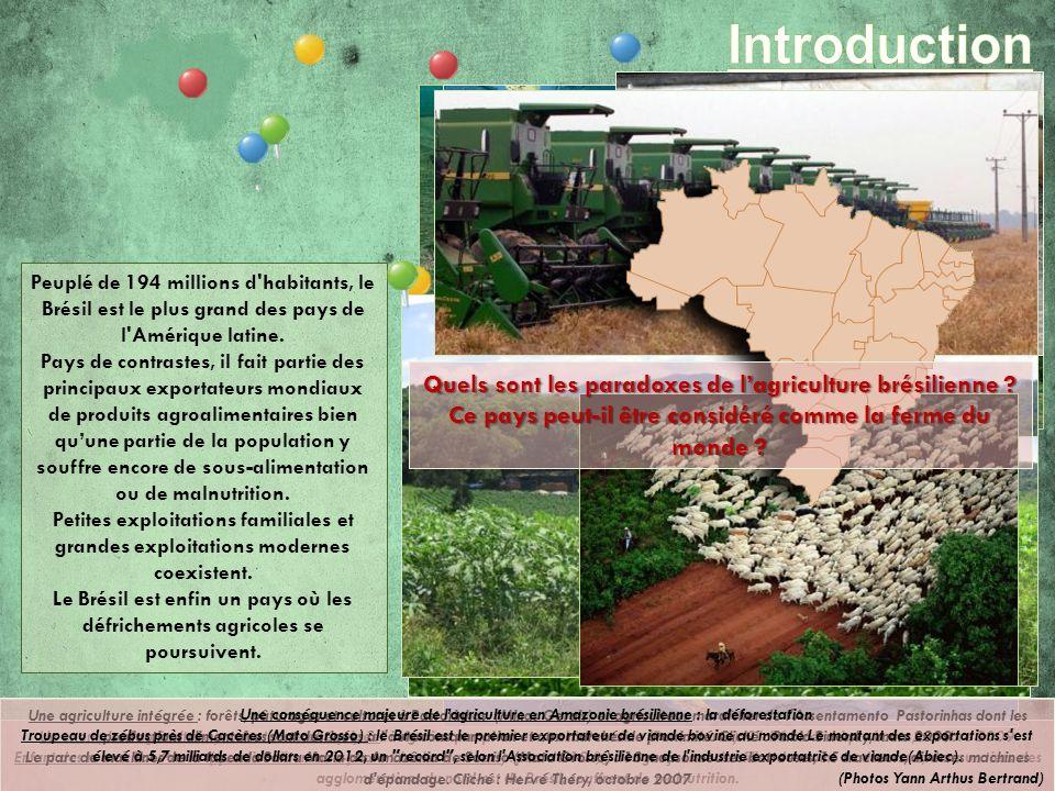 Introduction Quels sont les paradoxes de l'agriculture brésilienne