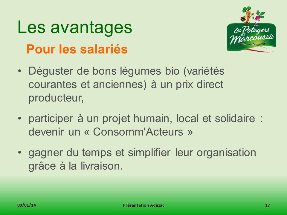 Les avantages Pour les salariés