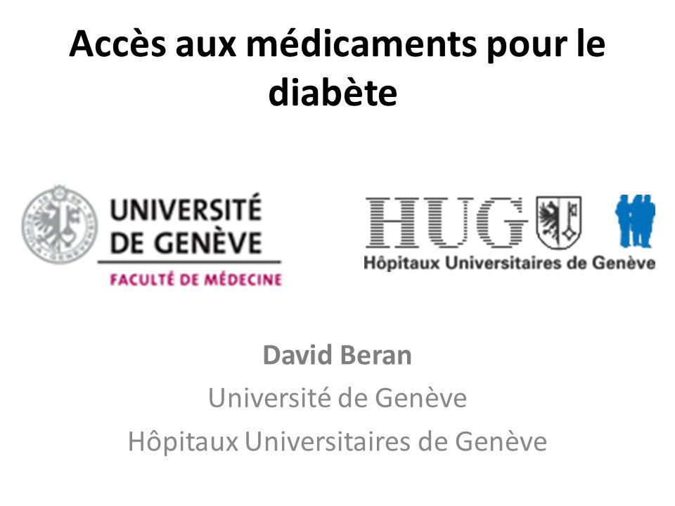 Accès aux médicaments pour le diabète