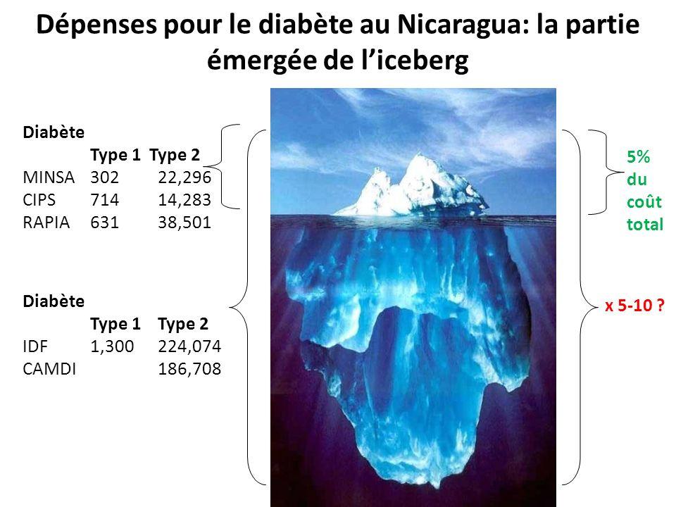 Dépenses pour le diabète au Nicaragua: la partie émergée de l'iceberg