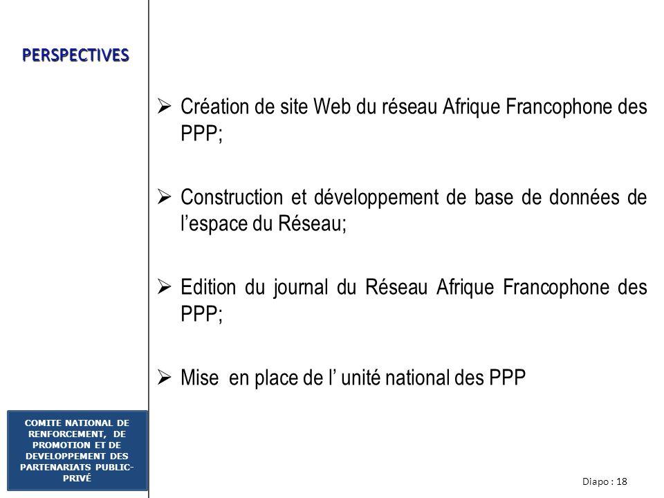 Création de site Web du réseau Afrique Francophone des PPP;