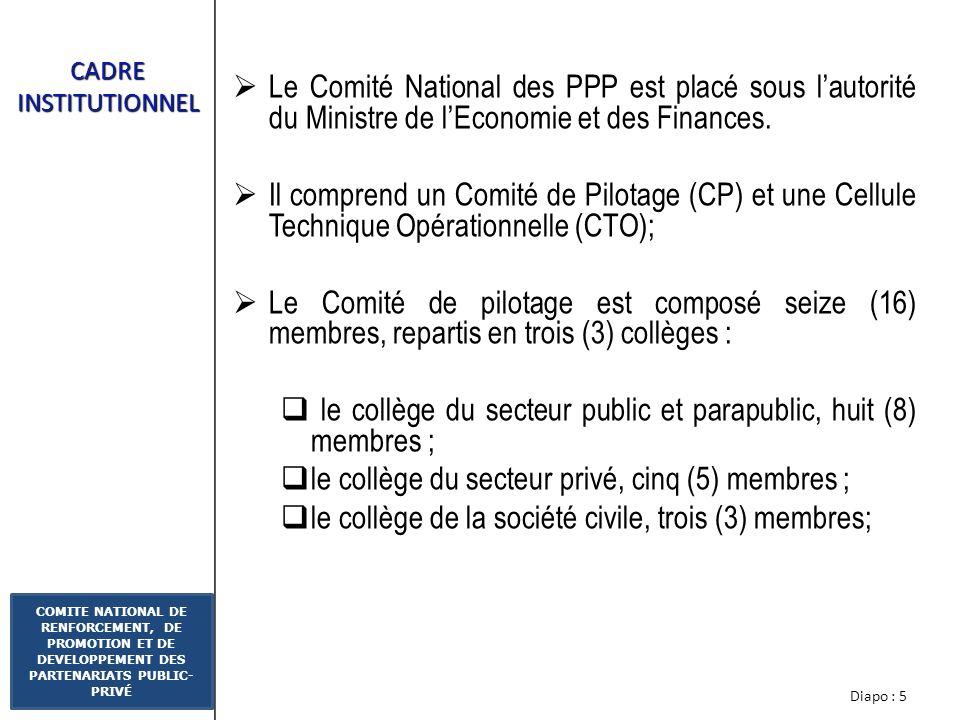le collège du secteur public et parapublic, huit (8) membres ;