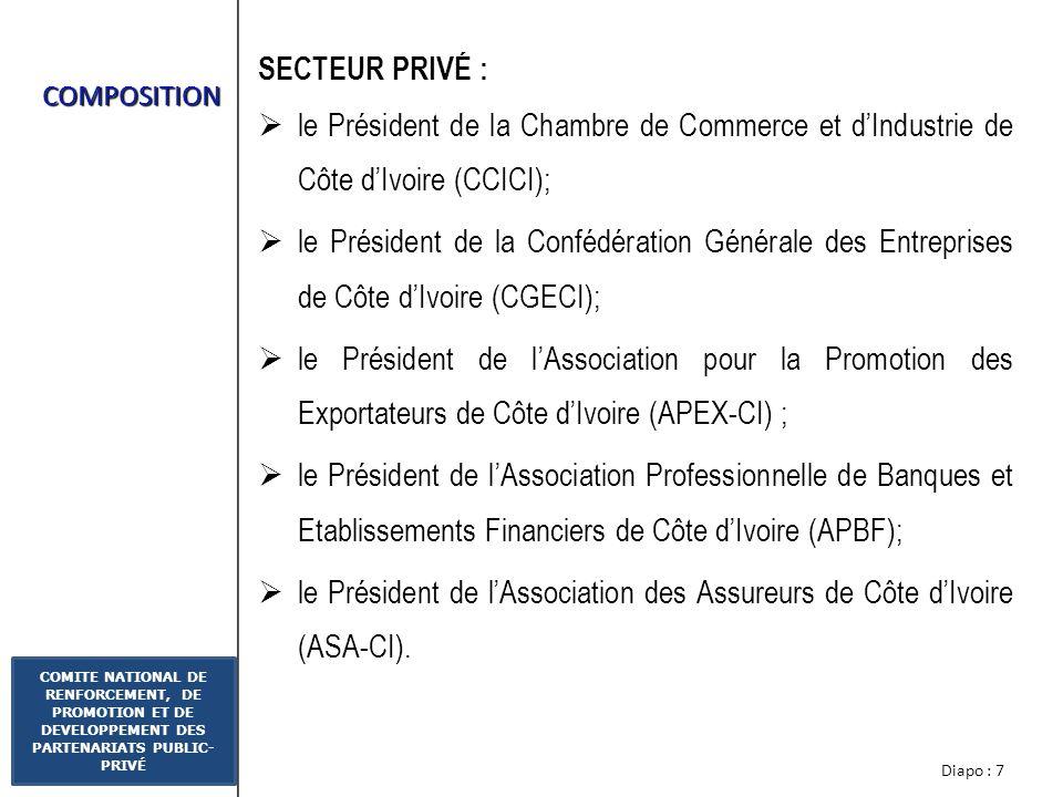 le Président de l'Association des Assureurs de Côte d'Ivoire (ASA-CI).