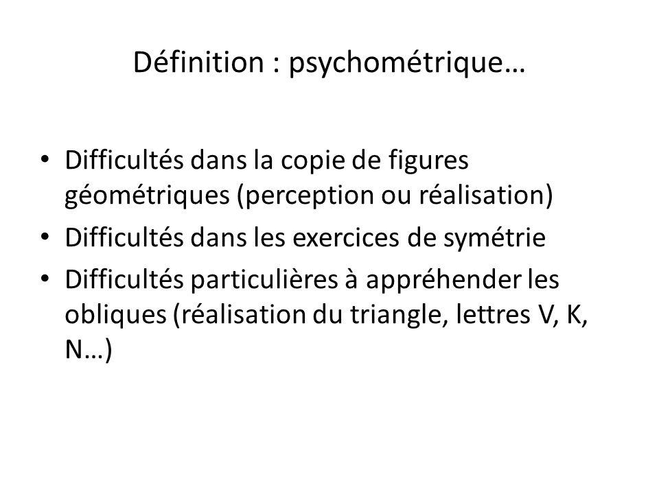 Définition : psychométrique…