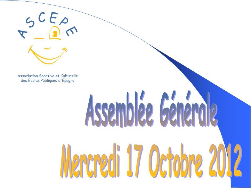 Assemblée Générale Mercredi 17 Octobre 2012