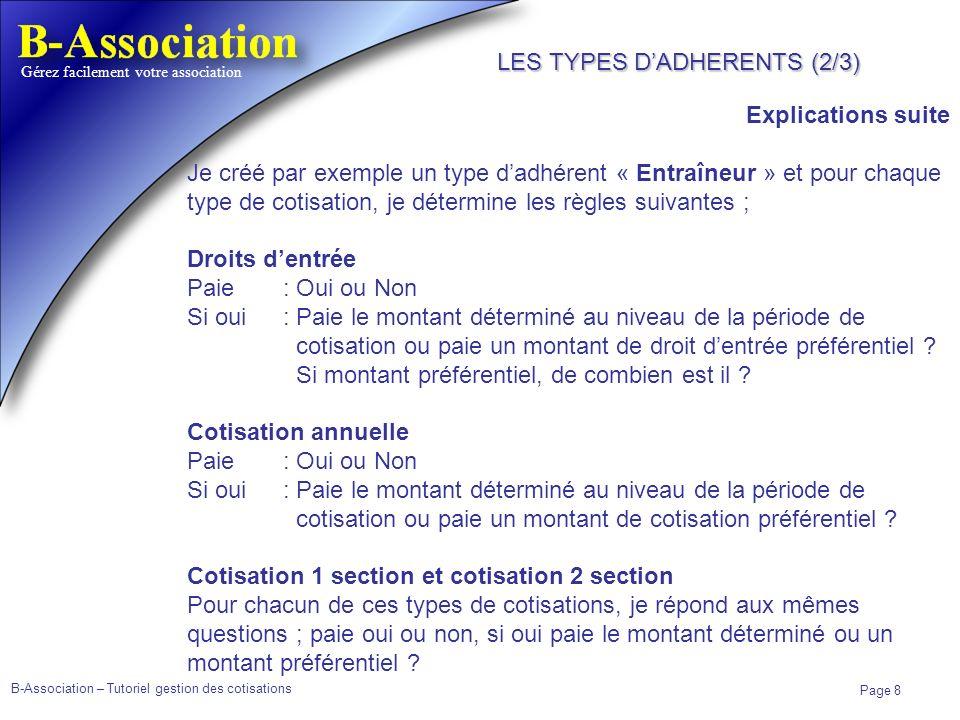 LES TYPES D'ADHERENTS (2/3)