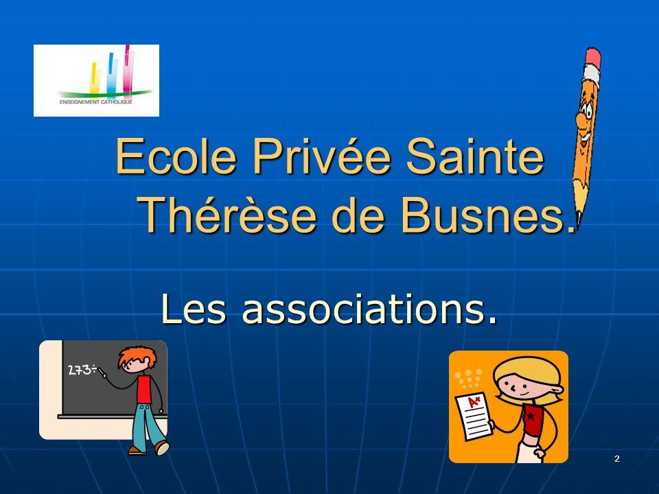 Ecole Privée Sainte Thérèse de Busnes.