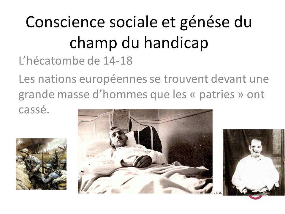 Conscience sociale et génése du champ du handicap