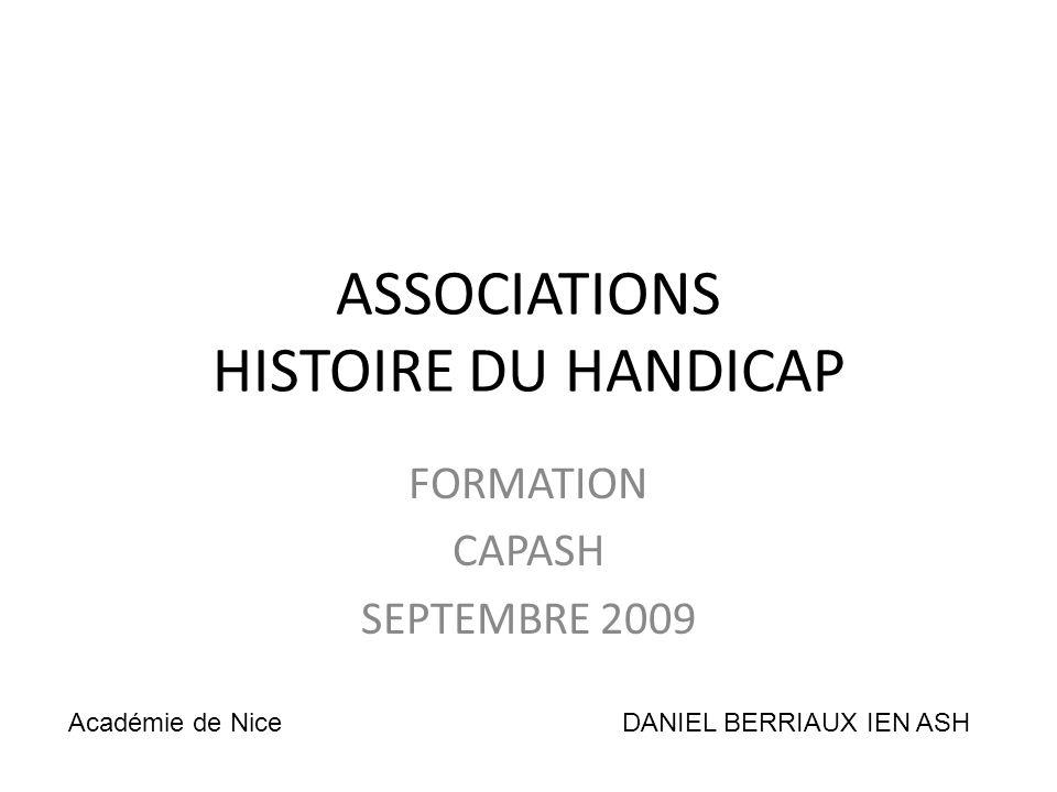 ASSOCIATIONS HISTOIRE DU HANDICAP