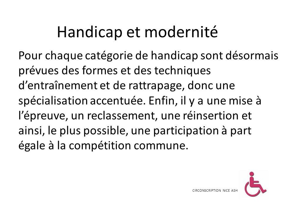 Handicap et modernité