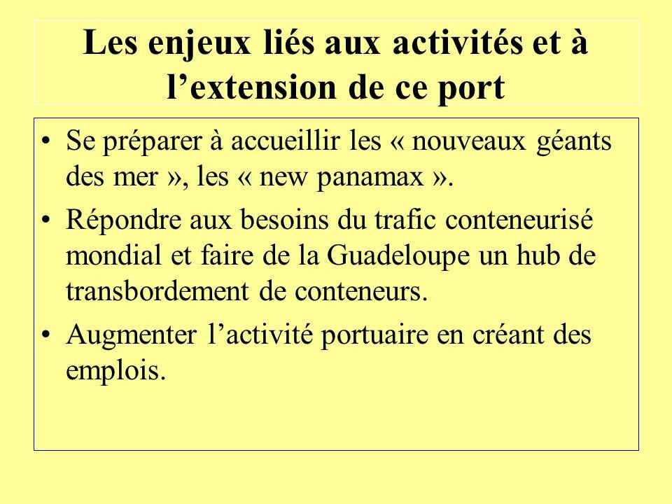 Les enjeux liés aux activités et à l'extension de ce port